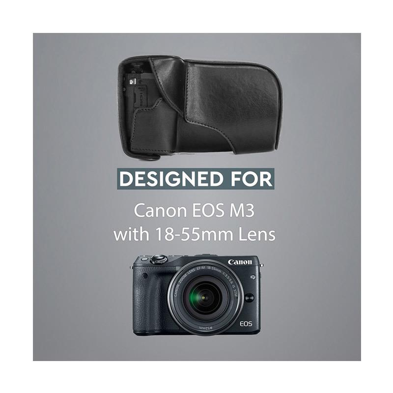 Jual Canon EOS M10   M100 Leather Bag   Case   Tas Kulit Kamera ... 3edc635655