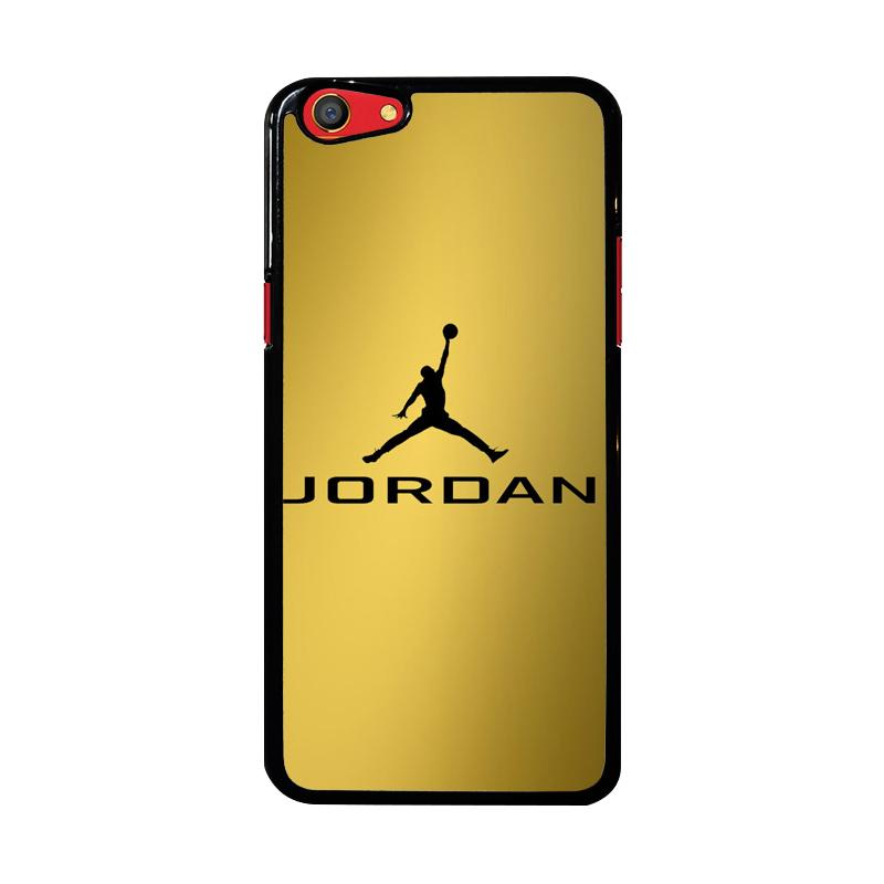 Flazzstore Michael Jordan Logo Gold Z4468 Custom Casing for Oppo F3