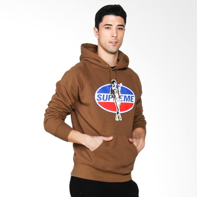 Supreme New York Hysteric Glamour Hooded Sweatshirt in Brown