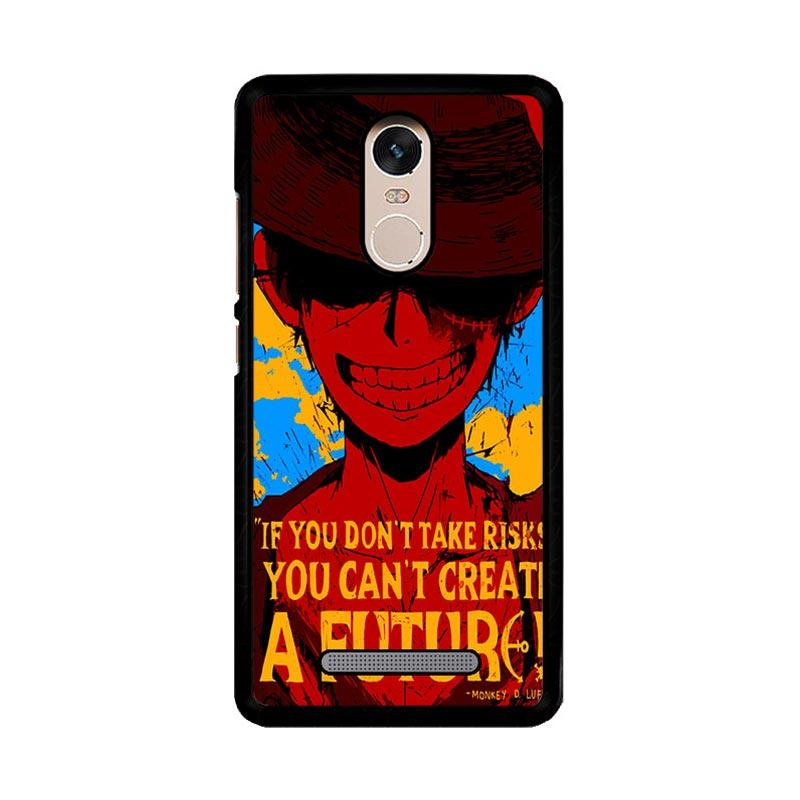 Flazzstore Luffy One Piece Quote Z1572 Custom Casing for Xiaomi Redmi Note 3 or Note 3 Pro