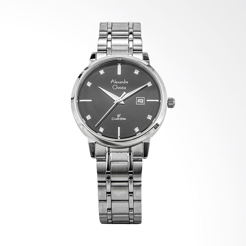 Alexandre Christie Classic AC 8528 LD BSSBA Jam Tangan Wanita - Silver Black