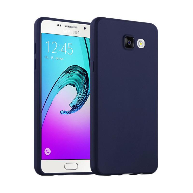Lize Design Case Slim Anti Glare Silikon Casing for Samsung Galaxy J5 Prime - Biru Tua