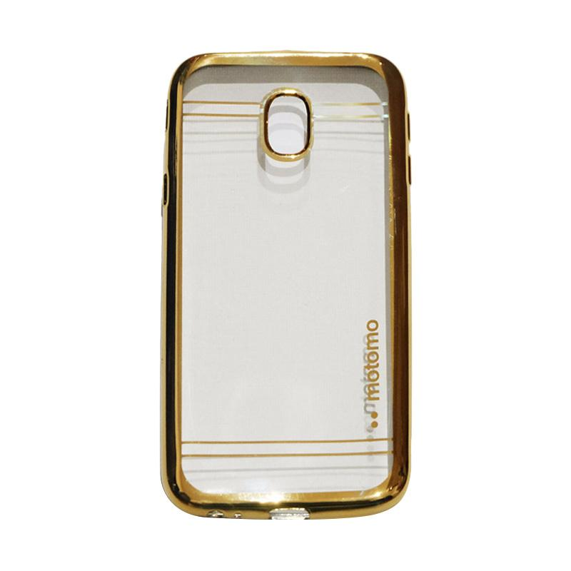 Motomo Softcase Shining Chrome Casing for Samsung Galaxy J3 Pro 2017 J330 - Gold