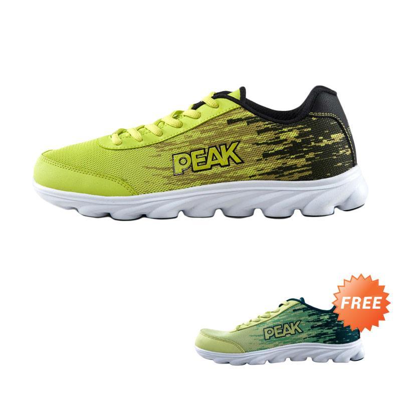 harga BOGO - PEAK E51057H Genuine Olympic Men Shoes 2015 Breathable Sports Sepatu  Lari - Hitam f07ca2f9d2