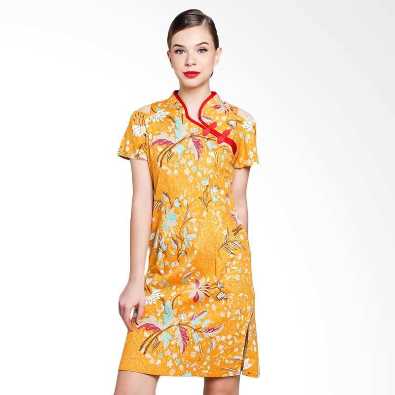 harga Papercut Ohara Bryony Batik Cheongsam Dress - Yellow Blibli.com