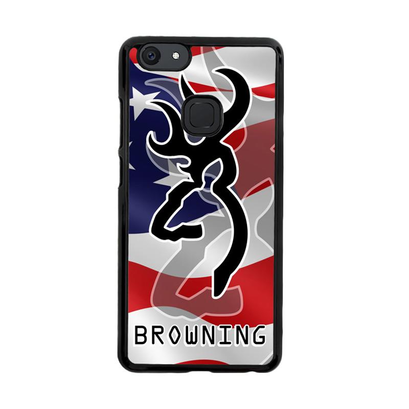 Flazzstore Browning Deer Camo American Flag X3267 Custom Casing for Vivo V7