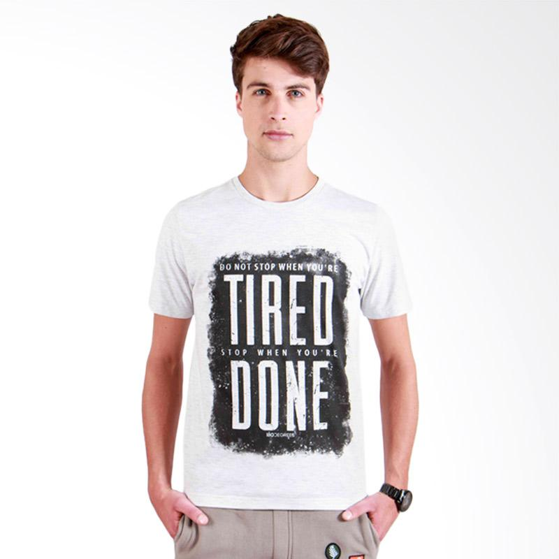 180 Degrees Dont Stop T-Shirt Pria - Putih