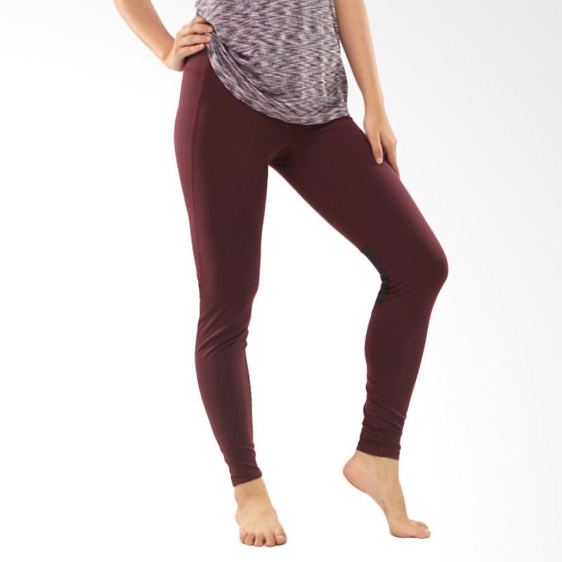 GRAZIEE Mesh Back Legging Celana Olahraga Wanita - Maroon [BK-09GRL0012]
