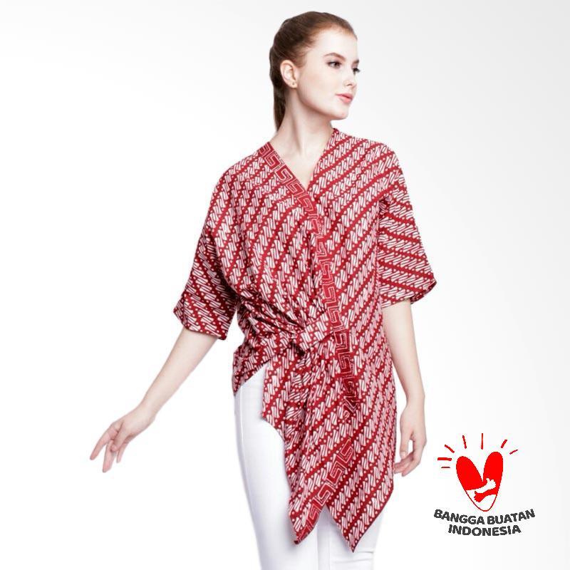 Batik Dirga Sambisari Atasan Wanita Maroon