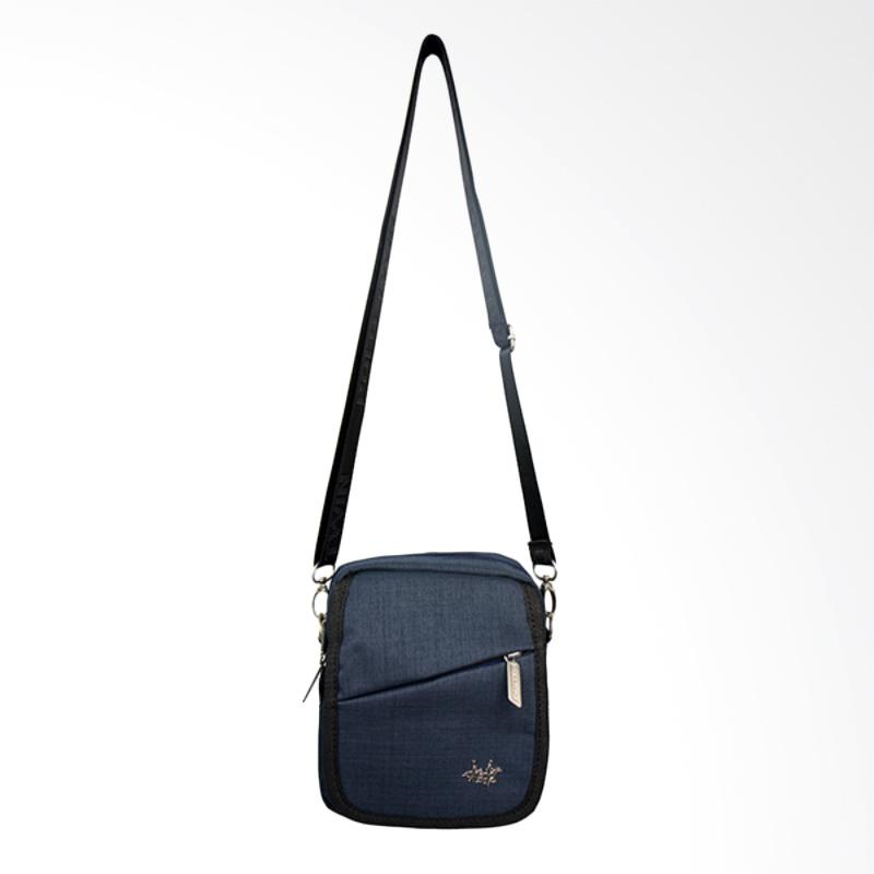 Polo Twin Shoulder Bag Tas Selempang Pria - Blue [136-06]