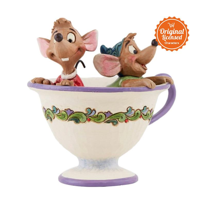 harga Disney Traditions Jaq and Gus In Teacup Figurine Blibli.com
