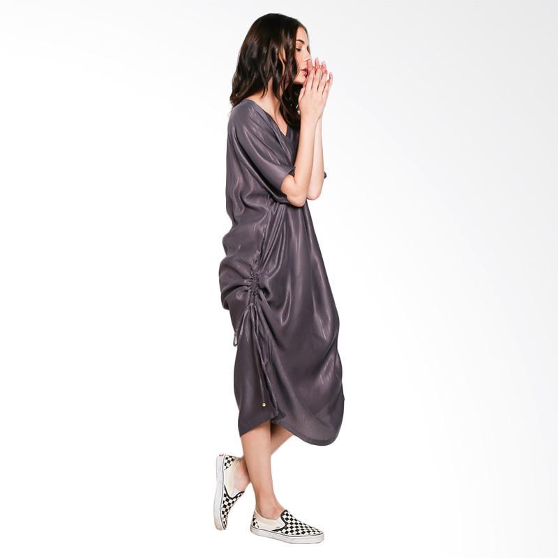 Nikicio Arang Dress - Brown With Gold Stripes
