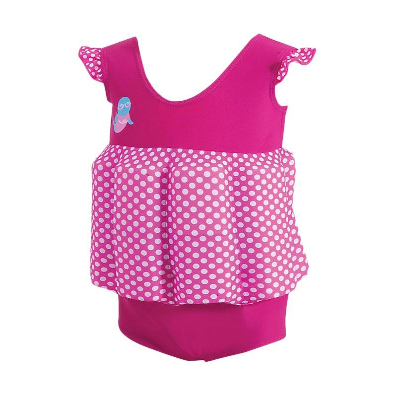 Zoggs Girls Learn to Swim Floatsuit Baju Renang Anak - Pink [1-2 Year]