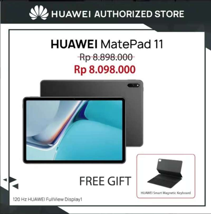 HUAWEI MATEPAD 11 WIFI ONLY ( 6 GB / 128 GB ) 120HZ BUNDLLING KEYBOARD