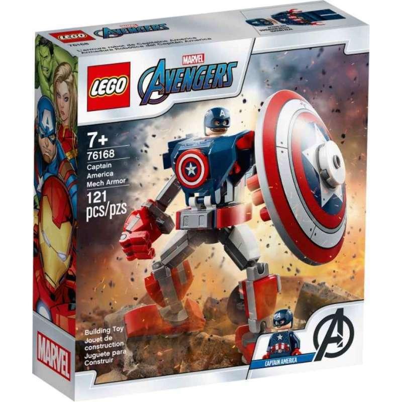 Lego 76168 Super Heroes Captain America Mech Armor