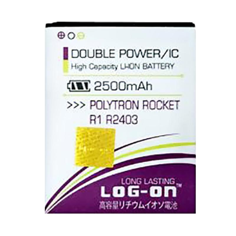 harga Log On Double Power Battery for Polytron Rocket R1 R2403 [2500 mAh] Blibli.com
