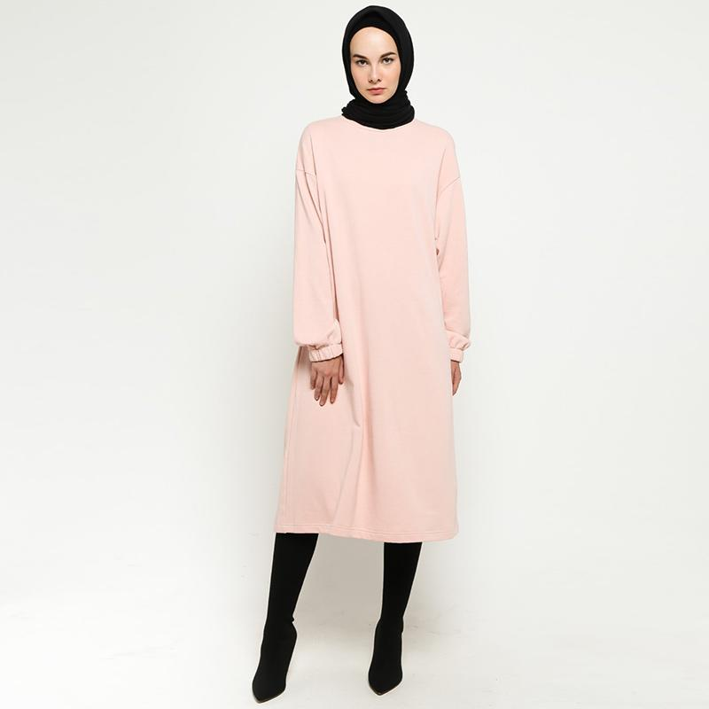 SABA Modest Wear Elastic Dress Muslim Wanita