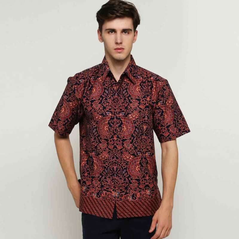 Blitique Batik LK BB Kemeja Pria Brown