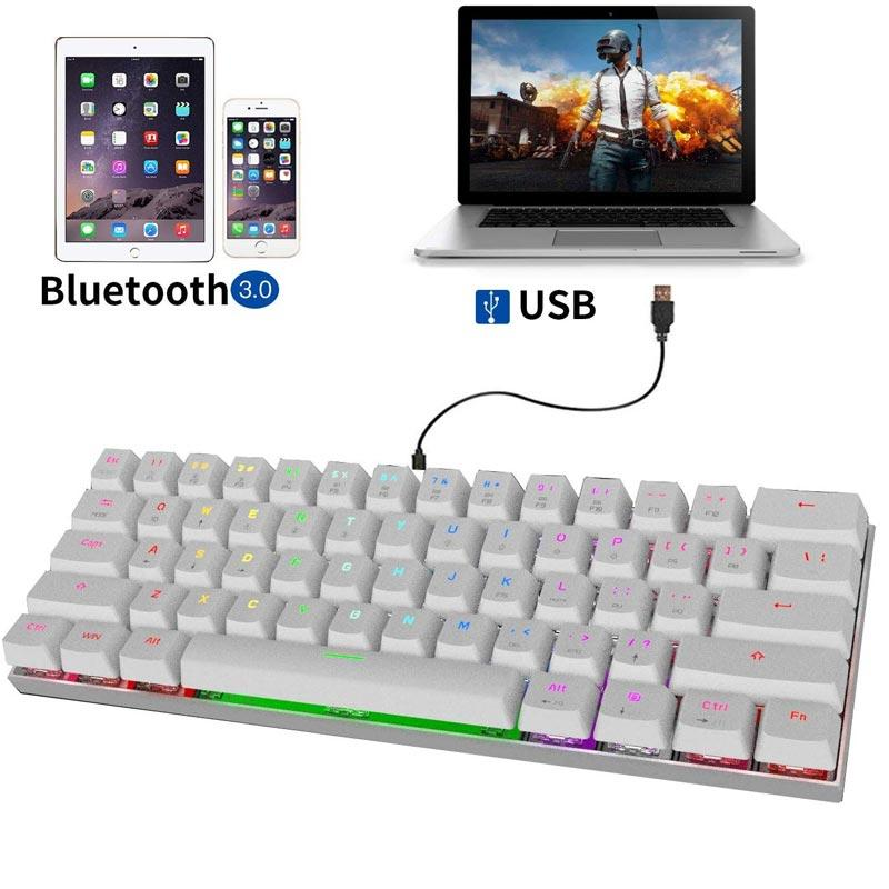 Jual Motospeed Ck62 Bluetooth Wired Mechanical Keyboard With Rgb Backlight Online Oktober 2020 Blibli Com