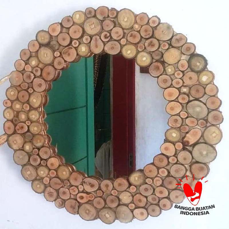 Kilaz Craft Rustic Bulat Cermin