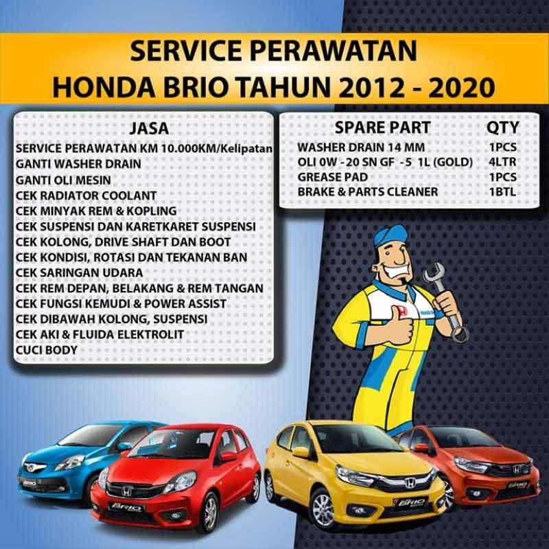 Jual Honda Jasa Service Perawatan Mobil For Honda Brio At Cvt Mt 2012 2020 Online Februari 2021 Blibli