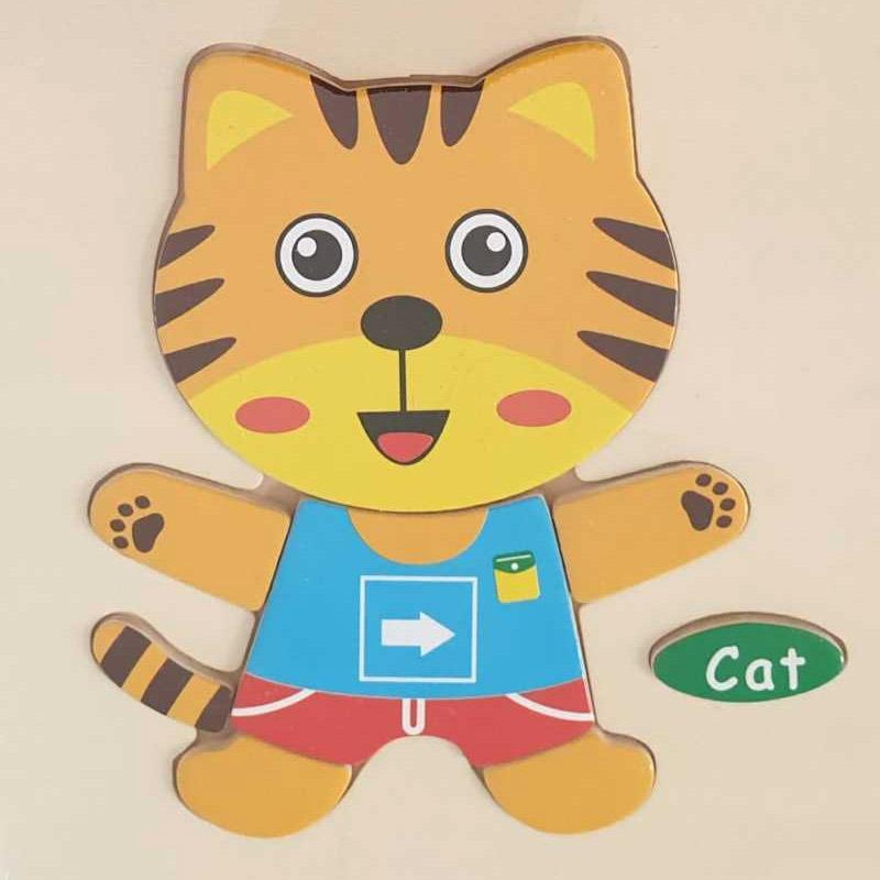 Jual Fina Fani Store Puzzle Kayu Mainan Anak Gambar Kucing Murah Desember 2020 Blibli