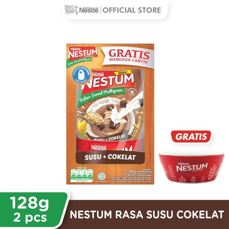 Nestle Nestum Paket Spesial Susu Coklat Sereal 128 g x 2 pcs Free Bowl