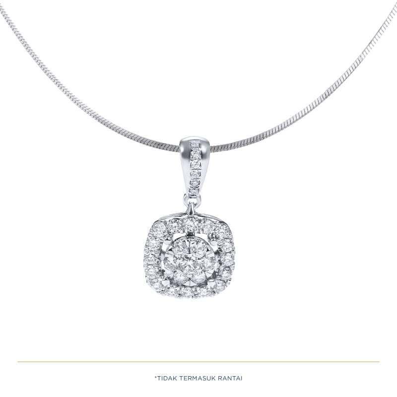 Adelle Jewellery Diamond Pendant P1610021 Liontin Berlian Wanita Emas Putih