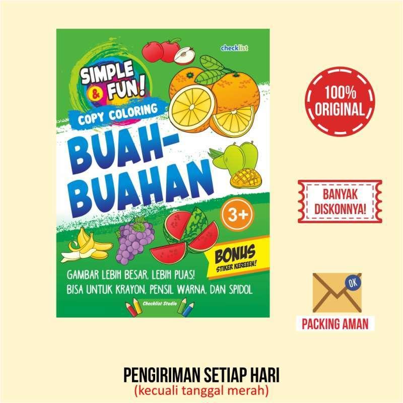 Buku Mewarnai Copy Coloring Buah Buahan Bonus Stiker Aktivitas Anak Terbaru Agustus 2021 Harga Murah Kualitas Terjamin Blibli