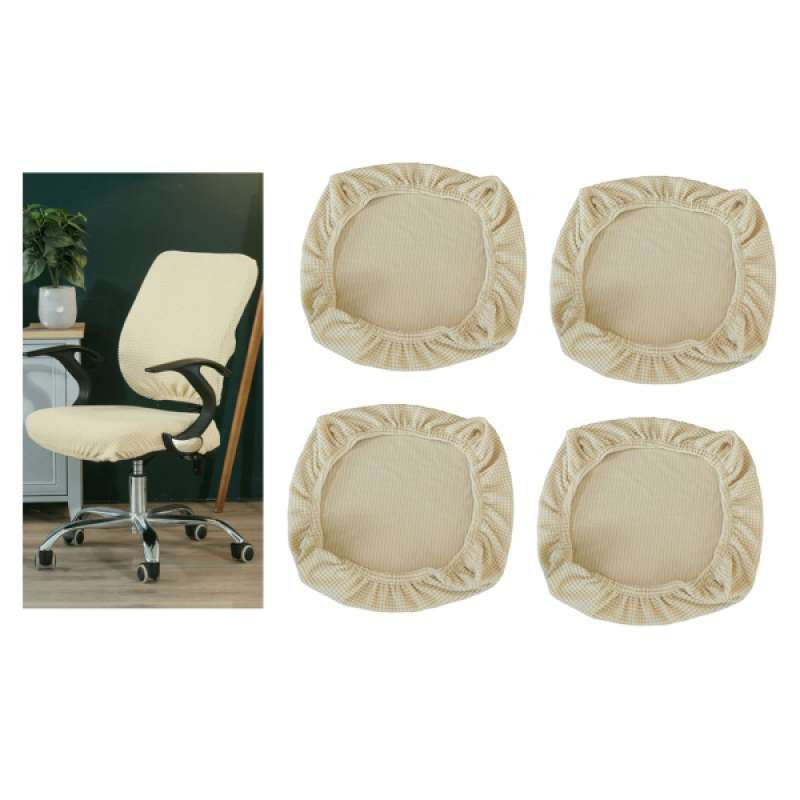 Jual 4x Stretch Spandex Dining Room Chair Seat Covers Removable Anti Dust Dining Chair Seat Cushion Slipcovers For Home Decor Beige Online Februari 2021 Blibli