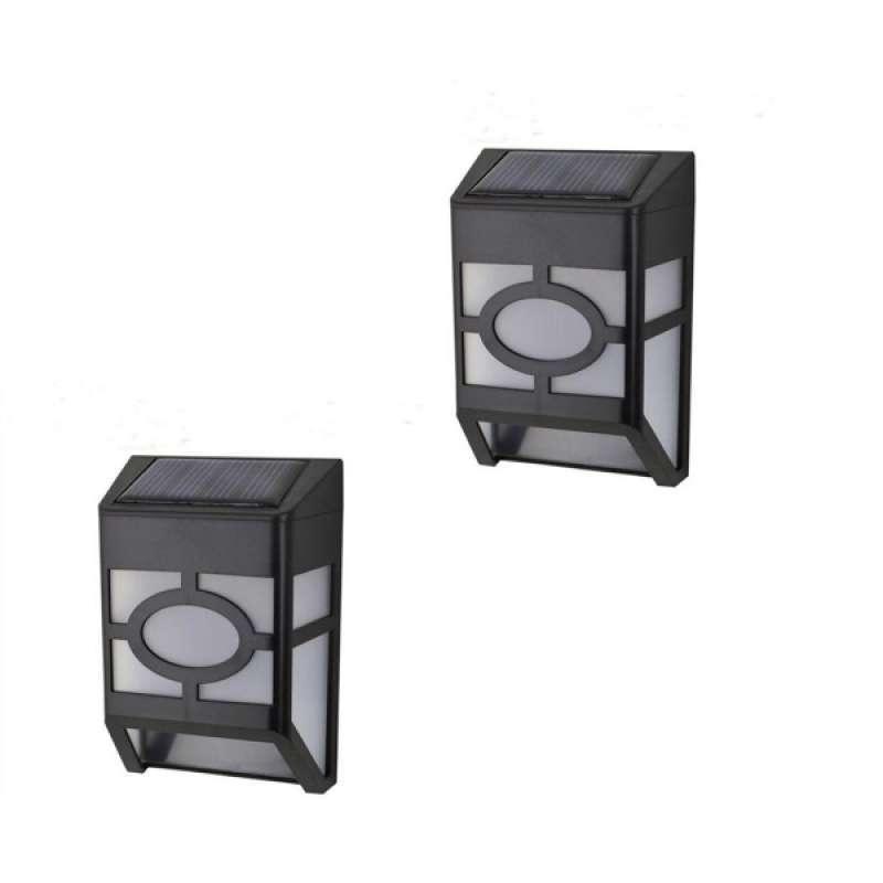 Jual 2pcs Led Solar Power Wall Light Motion Sensor Outdoor Lamp White Light Online Januari 2021 Blibli