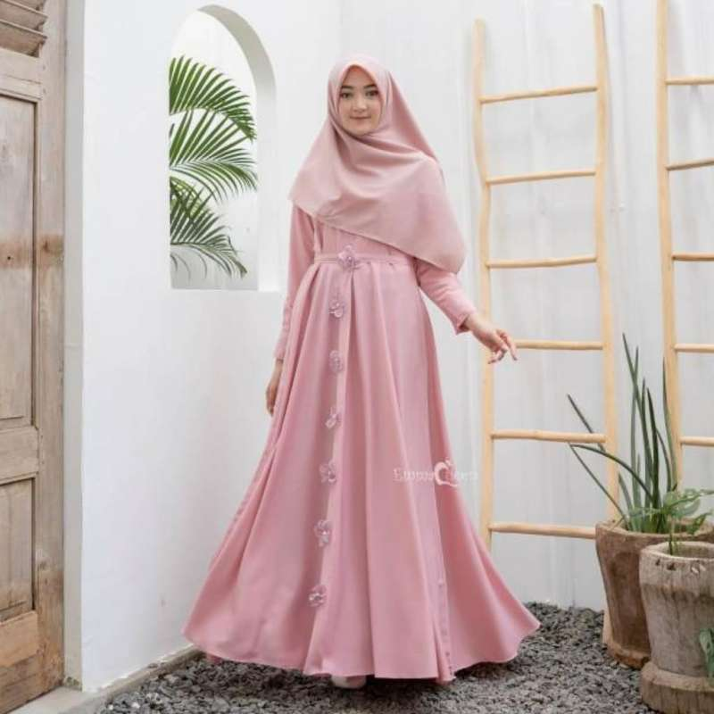Jual Adishree Syari Gamis Gamis Remaja Muslim Set Gamis Syari Dress Muslimah Quinella Online Maret 2021 Blibli