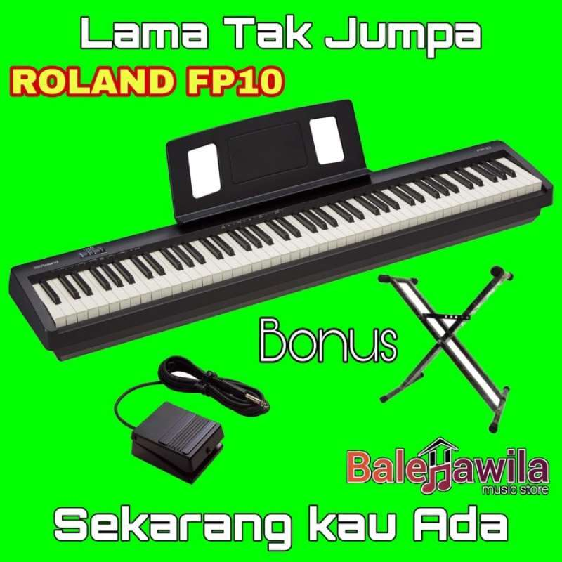 Jual Digital Piano Roland Fp10 Fp 10 Bonus Stand Keyboard Double Original Roland Fp 10 Portable Digital Piano Original Garansi Resmi Online Januari 2021 Blibli