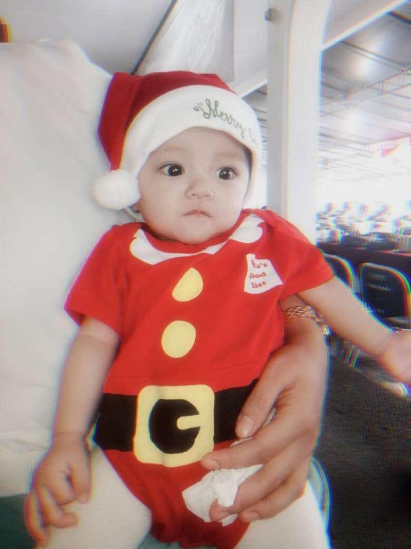 umper Bayi Santa Claus Jumper Kostum Natal Bayi Lucu