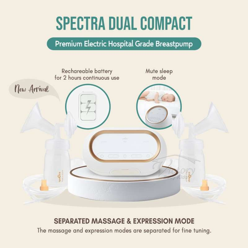 Spectra Dual Compact 9 Breast pump Electric Motor Double