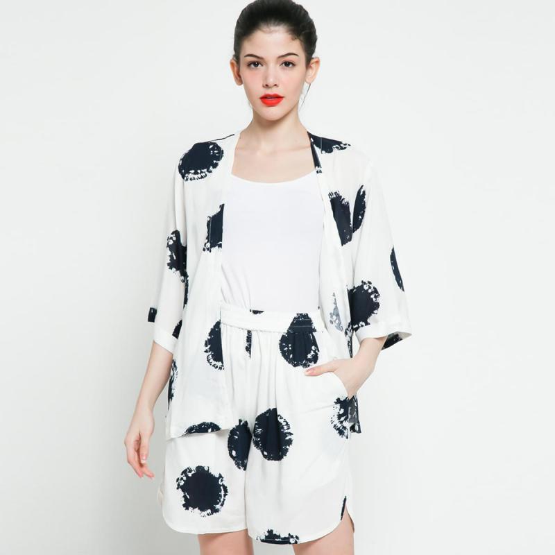 Ben Bella Loungewear Lullaby Outer Short Set White