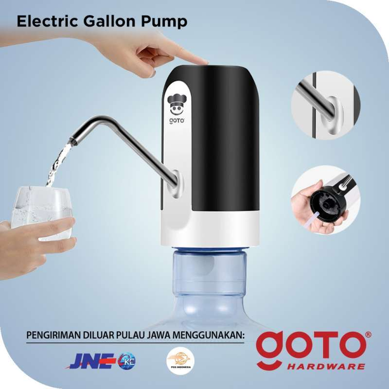 Jual Goto Hydro White Pompa Galon Elektrik Dispenser Air Minum Gallon Online April 2021 Blibli