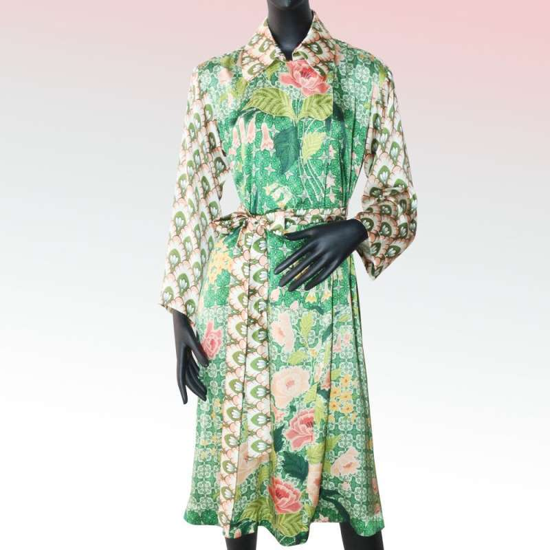 STUDIO 133 BIYAN FRENCH COAT SATIN PRINT CL SJ 002 19