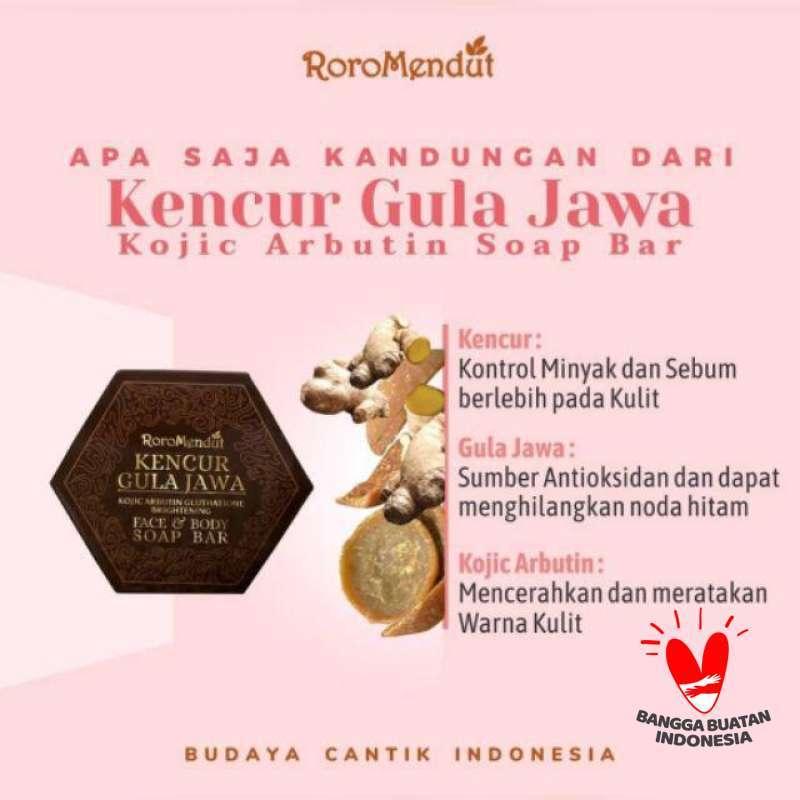 Jual Roro Mendut Kojic Arbutin Soap Bar Sabun Batang Anti Jerawat Kencur Gula Jawa Online April 2021 Blibli