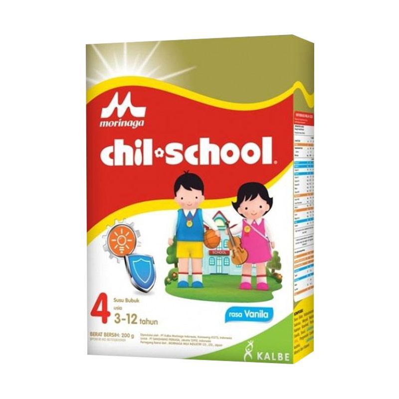 Morinaga Chil School (Tahap 4) Regular Vanila  [ 3 BOX /800 gr]