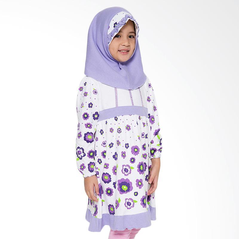 4 You Sweet Flower Moslem Long Dress - Ungu