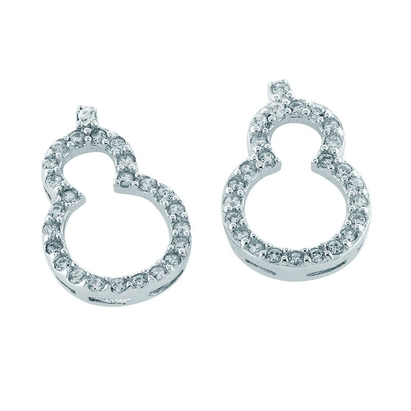 Anna Silver Chinese Gourd SWE-0002 Earring