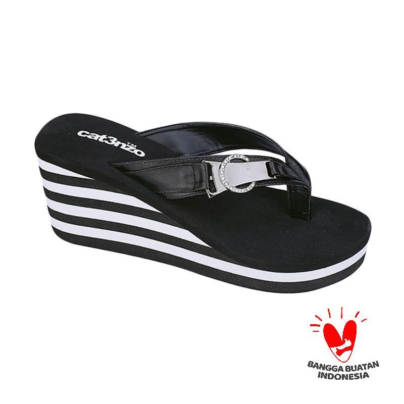 harga Catenzo Esmeralda TS 042 Sandal Wedges Wanita - Hitam Blibli.com