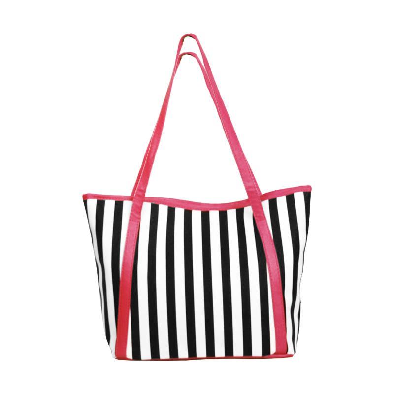 Chloe Babyshop Stripe Tote Bag - Pink