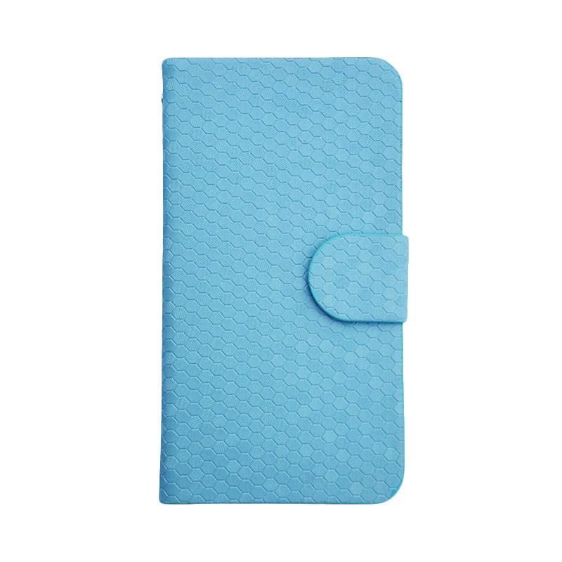 OEM Glitz Flip Cover Casing for Huawei GR5 - Biru