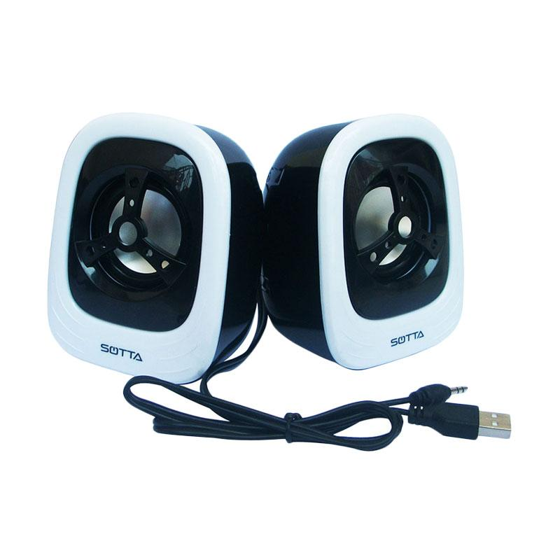 harga Sotta TwoN Mini Speaker - Hitam Putih [USB 2.0] Blibli.com