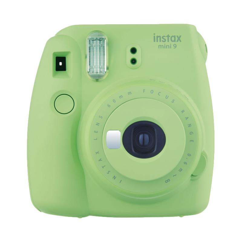 Instax Mini 9 Kamera Prosumer - Lime Green + INSTAX PAPER 1 PACK