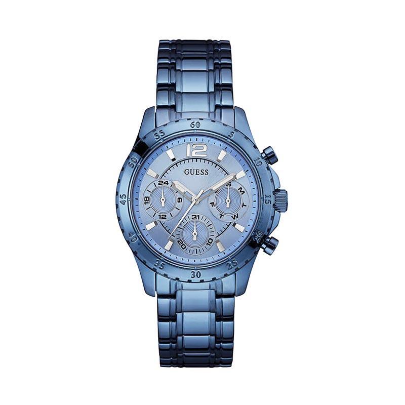 GUESS W0704L2  Stainless Jam Tangan Wanita - Blue
