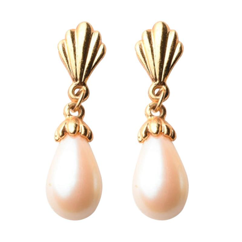 1901 Jewelry GW.839.HR13 Pearl Clamp Earring - Gold