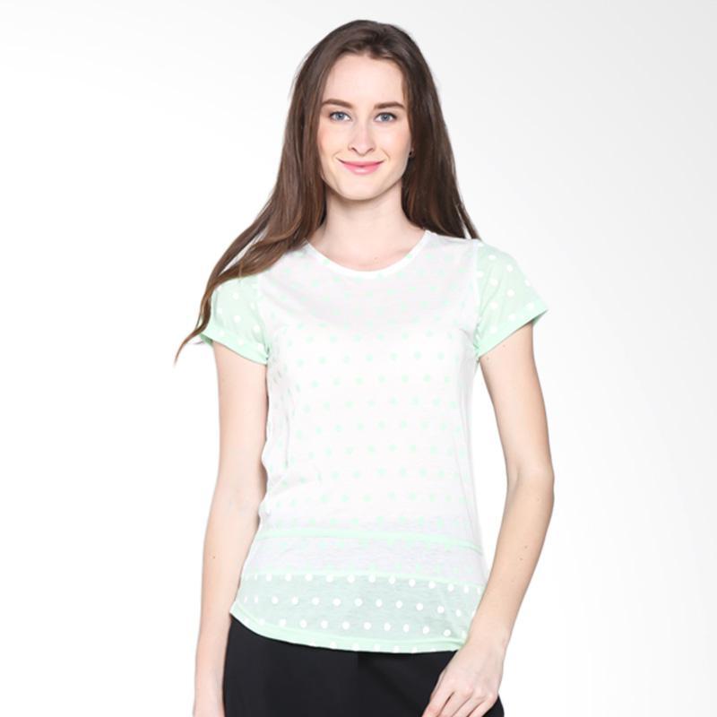 Gaff Karina Blouse 11406 1203 Atasan Wanita - Off white Green